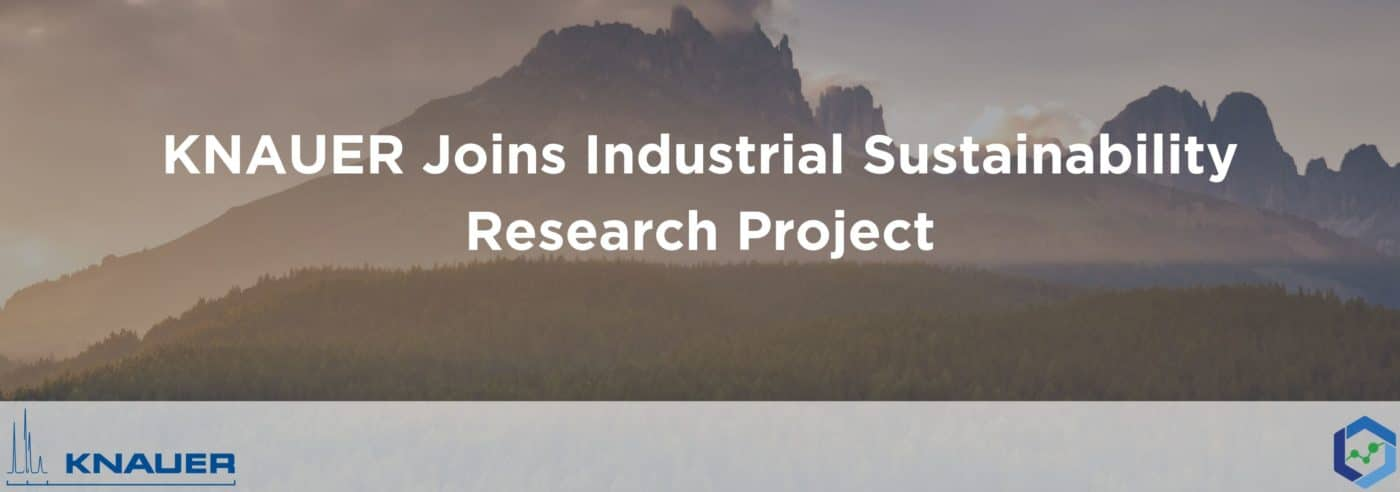 Sliding Headers 24 1400x492 - KNAUER Joins Industrial Sustainability Research Project